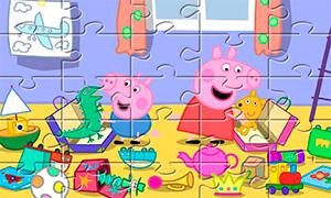 Игра для девочек: Пазлы со Свинкой Пеппой