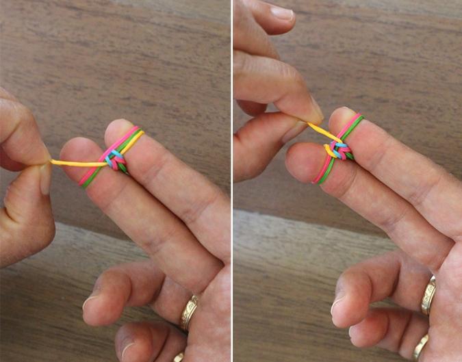 Как сделать браслет из резинок руками рыбий хвост