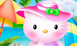 Игра для девочек: Летние каникулы Хелло Китти