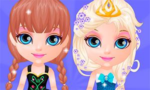 Игра для девочек: Праздник в стиле Холодного Сердца