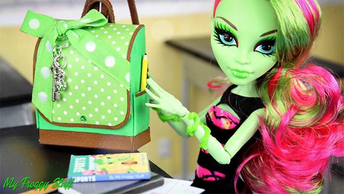 Рюкзак для куклы монстер хай своими руками