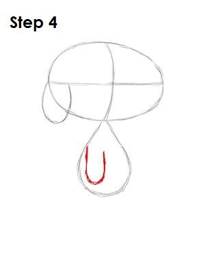 Как нарисовать Снупи карандашом поэтапно