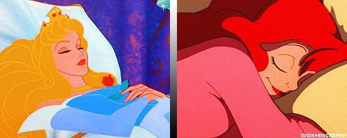 Спящие героини мультфильмов