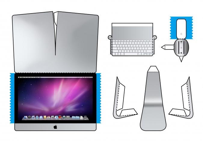Компьютер из бумаги схема