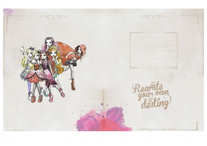 Эвер Афтер Хай: Уникальная тетрадь (блокнот) для распечатки