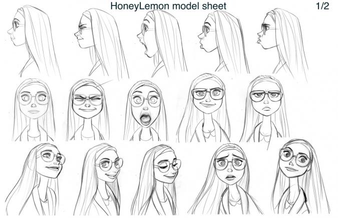 Как рисовать портрет Хани Лемон - подсказки модели