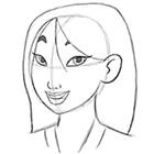 Як намалювати Мулан олівцем поетапно - уроки малювання