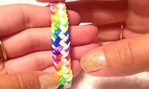 Как сделать браслеты из резинок тонкие