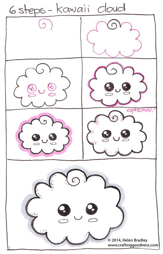 Рисуем очаровательный пончик, мороженое и облако за 6 шагов