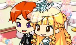 Игра: Парная свадебная одевалка