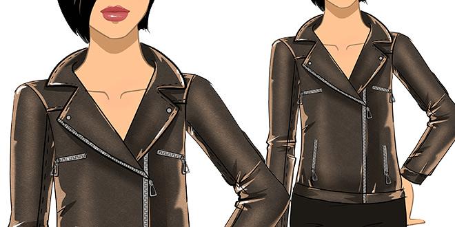 Рисуем одежду: Как нарисовать кожаную куртку