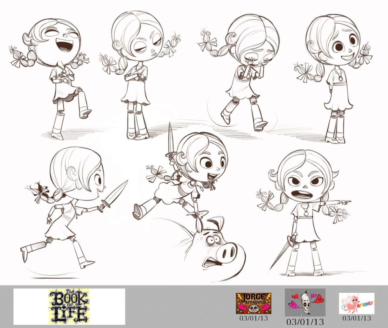 Character Design Book Of Life : Мультфильм Книга Жизни Концепт арты Марии youloveit