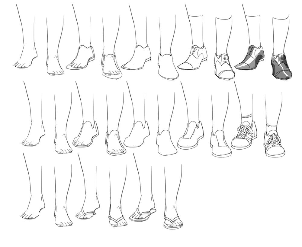 Мужские туфли рисуем 178