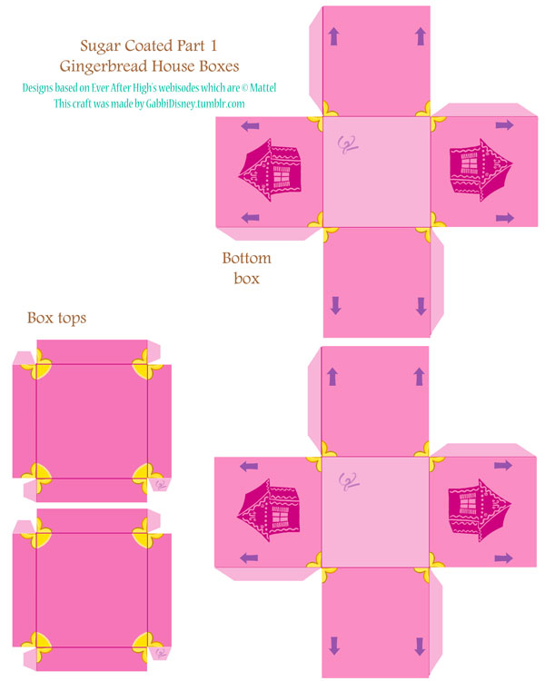 Поделки для кукол Эвер Афтер: Коробочки и пряничные человечки Sugar Coated