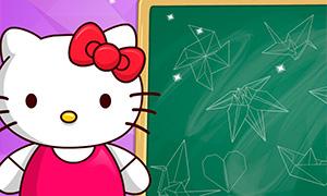 Игра для девочек: Оригами с Хелло Китти
