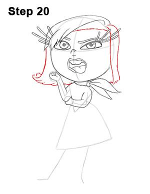 Как нарисовать Брезгливость карандашом поэтапно