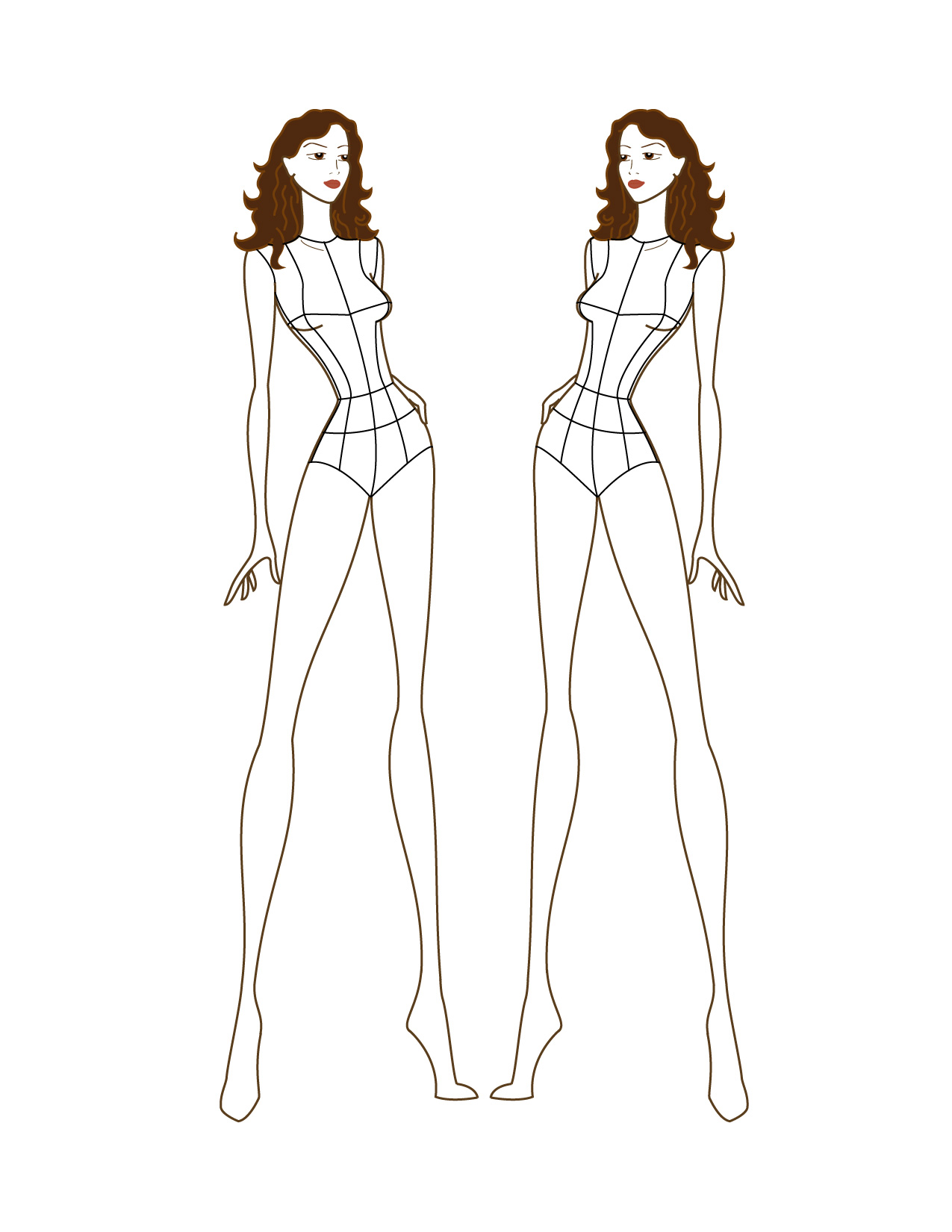 Fashion illustration body templates 51