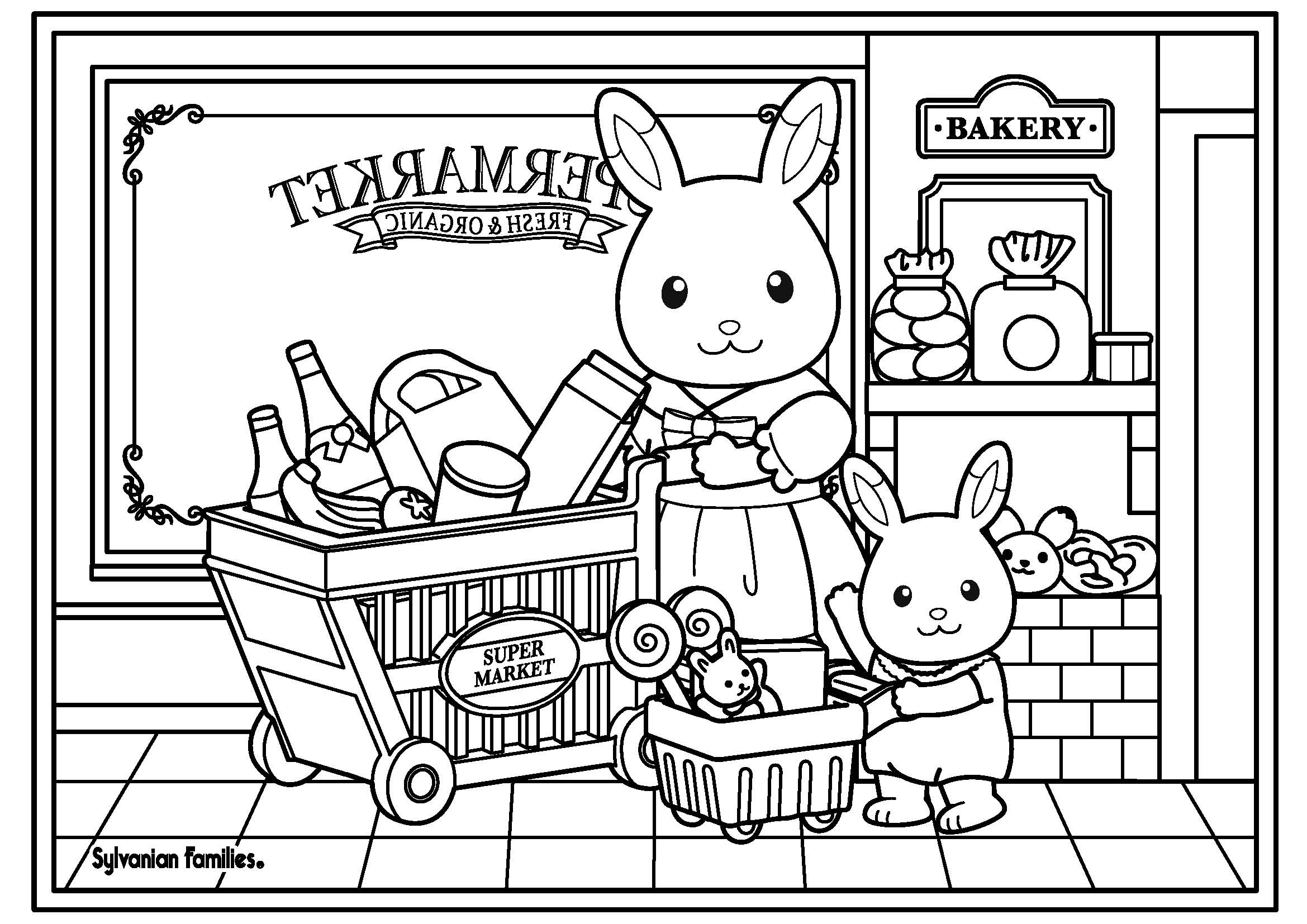 calico critters coloring pages printable - photo#3