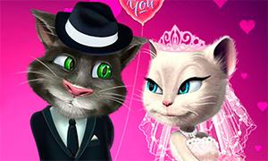Игра: Свадебная одевалка кота Тома и кошки Анжелы