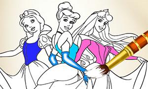 Игра: Коллекция раскрасок с принцессами Дисней