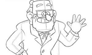 Гравити Фолз: Как рисовать дядю Стена (Стэна)