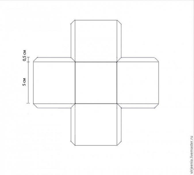 Коробочка из бумаги без клея своими руками