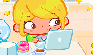 Игра для девочек: Безделье в офисе