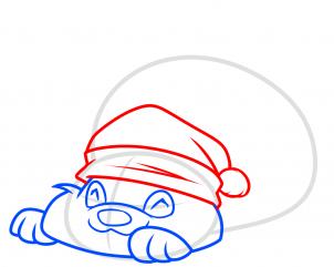 Рисуем новогодние открытки: Как нарисовать новогоднюю Панду
