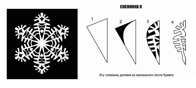 Как сделать простую снежинку из бумаги своими руками фото