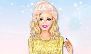 Игра: Зимняя одевалка с блестками