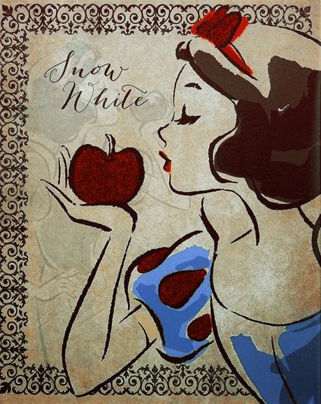 Красивые картинки Дисней Принцесс сделанные тушью