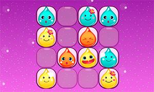 Игра для девочек: Соедини капельки