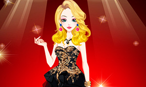 Игра одевалка: Маленькое черное платье для девушки