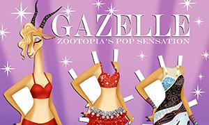 Зверополис: Бумажная кукла Газель с нарядами