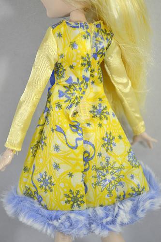 Бело желтое платье