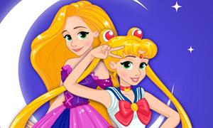 Игра: Дисней Принцессы - героини Сейлормун