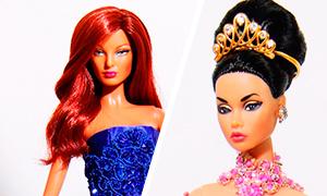 Уникальные вечерние платья для кукол Барби