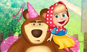 Игра Маша и Медведь: Переодевание в Дисней Принцесс