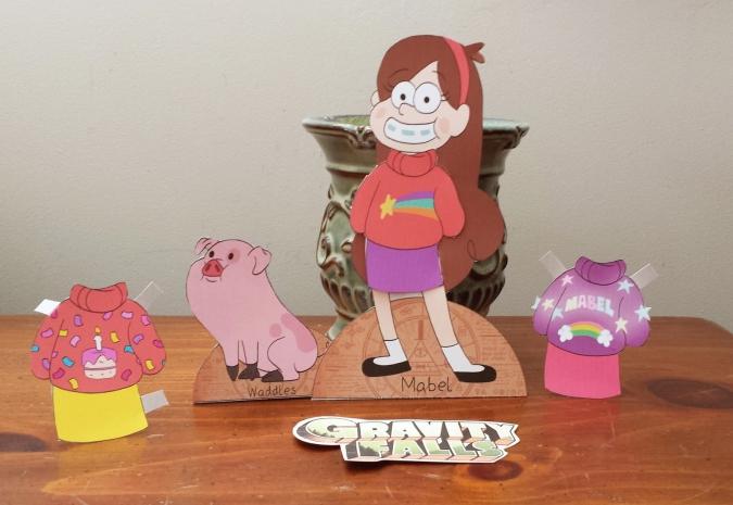 Гравити Фолз: Бумажная кукла Мэйбл с одеждой
