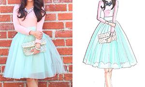 Юбки и платья как рисовать