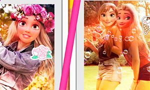 Игра Эльза и Рапунцель: Чье фото наберет больше лайков?