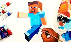 Видео: Как нарисовать Стива из Майнкрафта