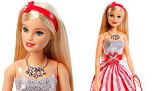 Игровые новогодние куклы Барби 2016