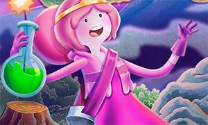 Игра Время Приключений: Принцесса Жвачка собирает грибы