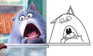 Как нарисовать кошку Хлою