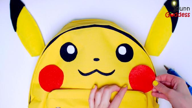 Как сделать няшный рюкзак в виде покемона Пикачу