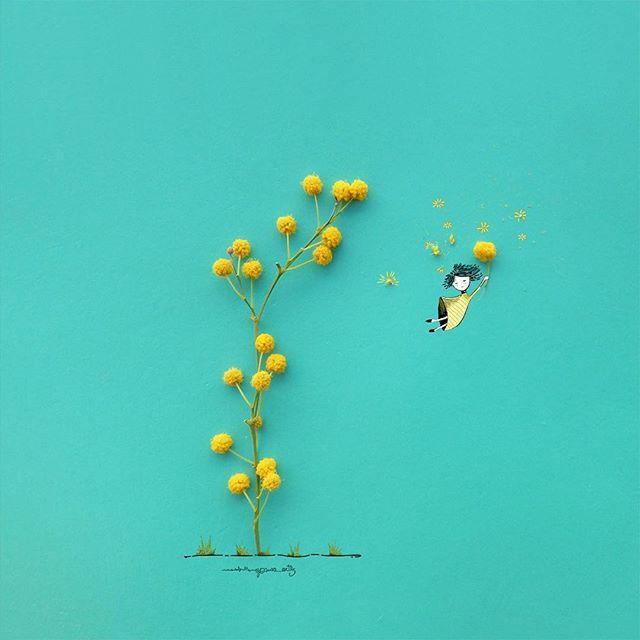 Когда цветы идеально дополняют рисунок
