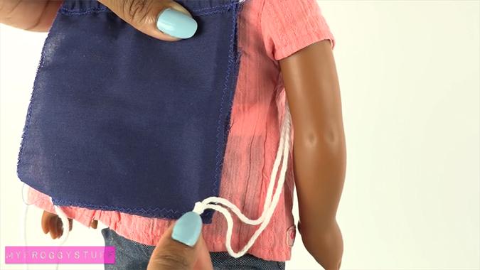 Как сделать рюкзак для кукол фото 632