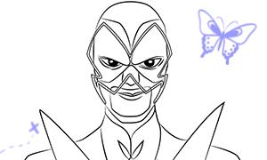 Леди Баг и Супер-Кот: Как рисовать Бражника