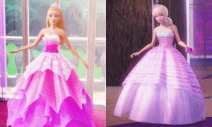 Барби в платьях принцессы: анимации из разных мультфильмов